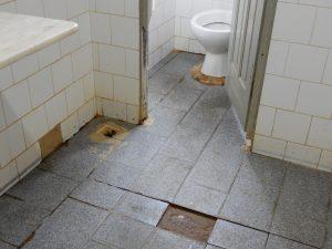 Sanitäre Anlagen vor der Sanierung