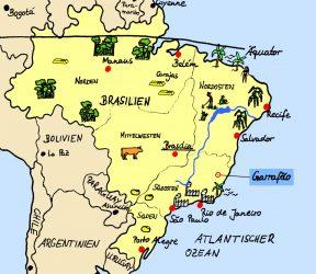 Brasiliens Regionen und die Lage von Garrafão